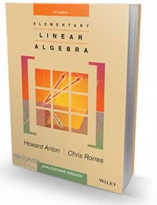 Elementary Linear Algebra Applications Version 11th Edition